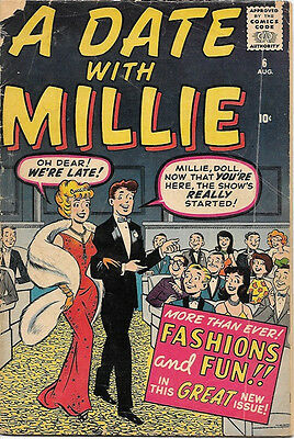 A Date With Millie Comic Book #6, Marvel/Atlas 1960 GOOD+ 2nd Series