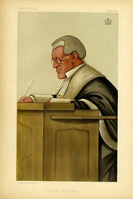 The Lord Chief Justice Of England Lord Coleridge Barrister Attorney General Peer