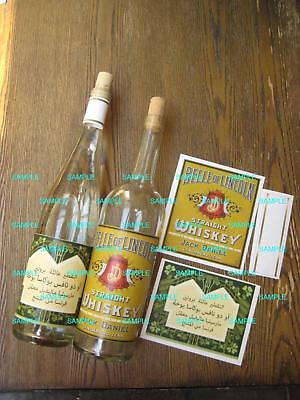 Indiana Jones Raiders of the Lost Ark - Whiskey & Belloq Wine Bottle Labels