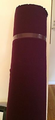 Quality Wool  Fabric Fabric In Purpleish Plum ~10 yards ~
