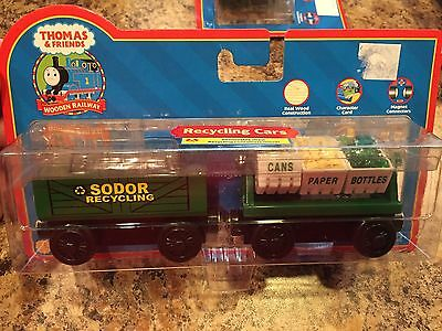 Thomas the Train Wooden Recycling Cars 99168 Learning Curve Retired New