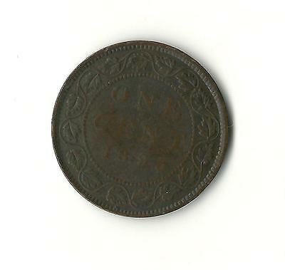 1893 Large Cent, Canada Penny World Coin