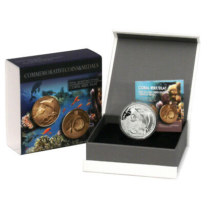 2012 Israel Coral Reef, Eilat Proof Silver Coin with Mint Box & COA
