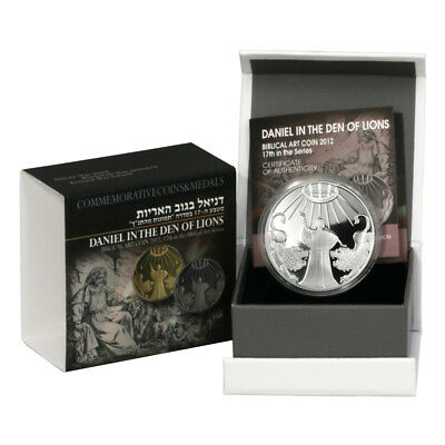 2012 Israel Daniel in the Lion's Den Proof Silver Coin with Mint Box & COA