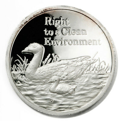 Zambia Clean Environment South African Shelducks 500 Kwacha 1994 Proof Silver Cr