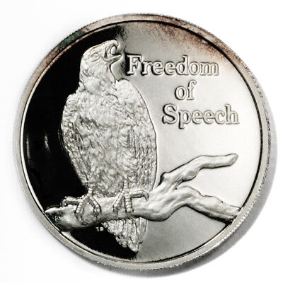 Zambia Freedom of Speech African Fish Eagle 500 Kwacha 1994 Proof Silver Crown K