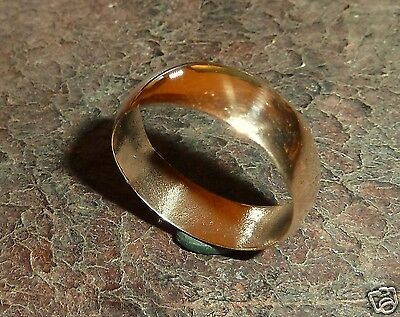 Old polished bronze  wedding ring (284).