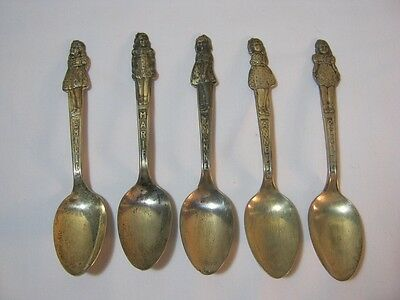 Dionne Quintuplets Carlton 1930's Vintage Set of 5 Silver Plated Spoons  T*