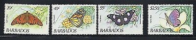 BARBADOS 1983 BUTTERFLIES commemoratives VF MNH