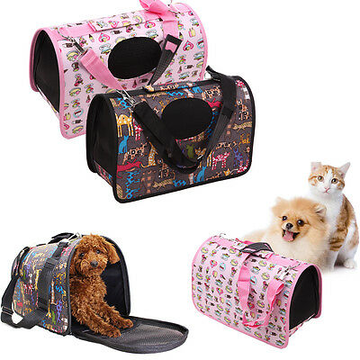 Pet Carrier Soft Sided Cat / Dog Comfort Tote Cage Shoulder Bag Travel Approved