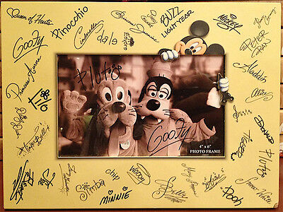 Disney Parks Character Signature 4x6 Photo Frame