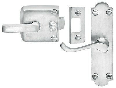Satin Chrome Screen Door Latch Assembly Left Hand
