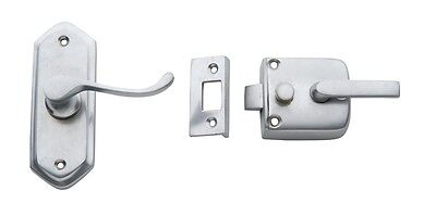 Satin Chrome Right Hand Screen Door Latch