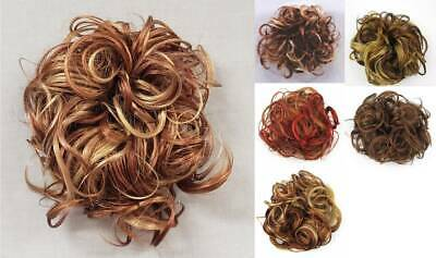 "Katie Ex-Large Curly Hair Scrunchie Ponytail Holder Hairpiece Extensions 7"" Curl"