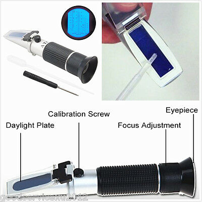 Glycol Refractometer Car Antifreeze&Battery&Cleaning Fluid Engine Coolant Tester
