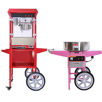 Popcorn Maker Retro Machine & Cotton Candy Floss Making Party Electric Machine