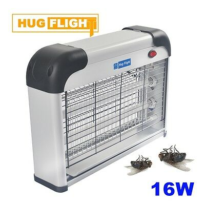 16W UV Electric Insect Fly Killer Zapper Pest Remover Flying 2x8W Restaurant