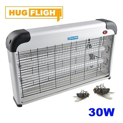 30W Fly Insect Bug Killer Electric Restaurant Kitchen Industrial Zapper UV 2x15W