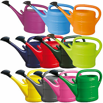 Plastic Watering Can with Rose - 1L, 2L, 5L, 10L - for Garden & Indoor Plants
