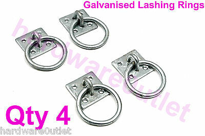 4 x Galvanised Tie Ring Horse Stable Haynet Lashing Ring Equestrian 5105G