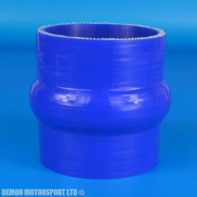 """2.75"""" / 70mm Silicone Hump Hose Straight Coupler ( Blue ) Boost Intercooler Pipe"""