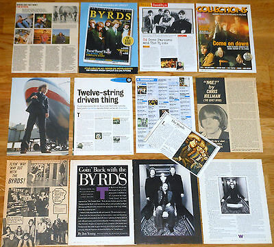 THE BYRDS clippings 1960s/00s Roger McGuinn Crosby magazine articles photos
