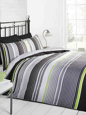 Cambridge Stripe - Mono - Double Duvet Cover