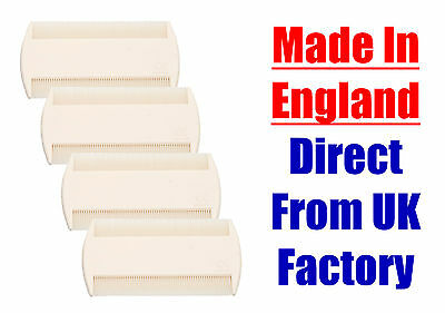 4 Pieces White Double Sided Nit Combs for Head Lice Detection