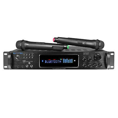 Technical Pro HW4000UriBT Digital Hybrid 4000 Watt Amplifier w/ 2 Wireless Mics