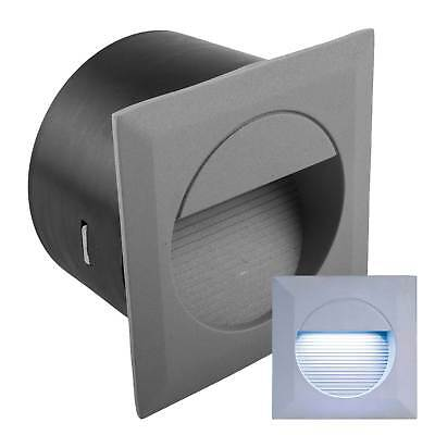 Knightsbridge Square Recessed White LED Wall Walkway Marker Light IP44 Outdoor