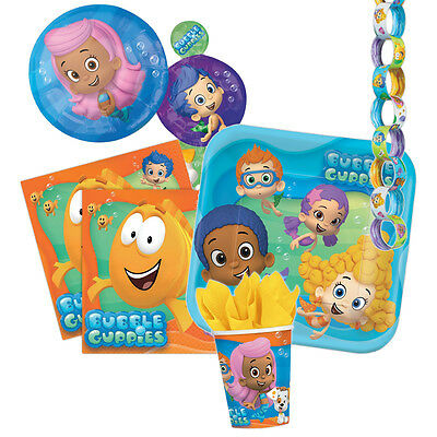 BUBBLE GUPPIES Party Tableware & Decorations (Birthday/Plates/Napkins/Banner)