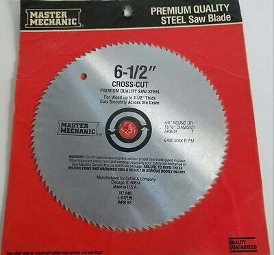 "Master Mechanic, Steel Saw Blade, Cross-Cut 6 1/2"" (Lp087)"