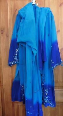 10-12 Aqua blue salwaar kameez & dupatta outfit Asian Indian Pakistani set