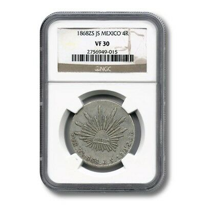 Mexico 4 Reales 1868 Zs NGC VF30 KM-375.9