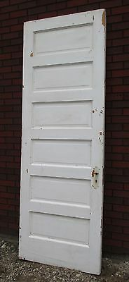 Antique Painted Wood 6 Raised Panel DOOR Architectural Salvage