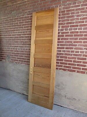 "Antique DOOR -  Solid Fir Wood - Stripped - 6 Raised Panel (95 3/4"" x 33 5/8"")"