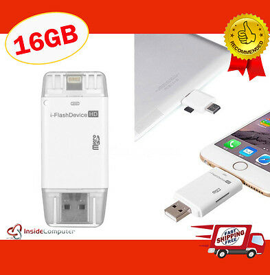 iStick iFlash iXpand 16gb Lightening Flash Drive to USB 2.0 for iphone 5s 6 6s