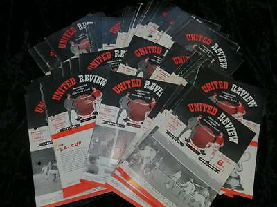 VINTAGE FOOTBALL PROGRAMME Manchester United Homes 1959-1966 Buy Individually