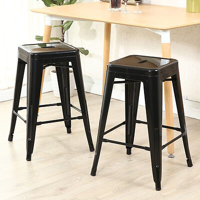 Awesome 26 In Black Metal Counter Stools Set Of 2 Bar Seat Chair Gmtry Best Dining Table And Chair Ideas Images Gmtryco