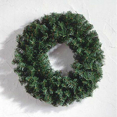 24 Inch Canadian Pine Artificial Green Christmas Wreath - Unlit