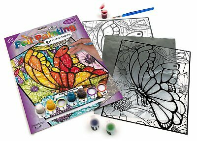 Foil Paint By Numbers Butterfly NEW Glass Paint Transparency Royal Langnickel