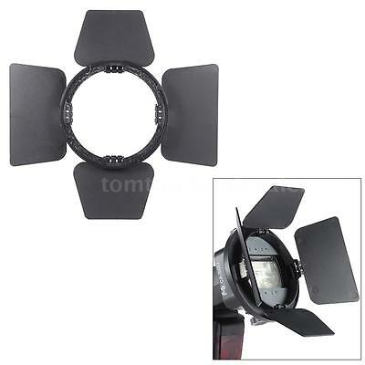 Flash Speedlite Spotlight Barndoor Refelctor Bounce Softbox Diffuser -Black I3S6