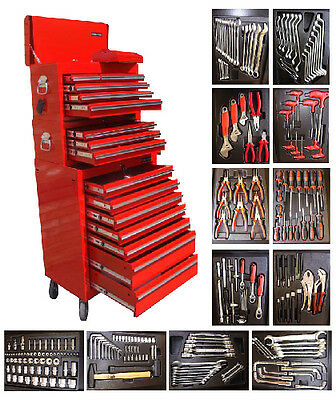 165 US Pro Red Tool Chest Box roll cabinet toolbox + tools FINANCE AVAILABLE!