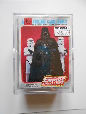 Star Wars Empire Stks Back movie series 1 Topps cards rare set 1981