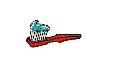 Patch embroidered iron on cloth badges kawaii biker tooth brush applique