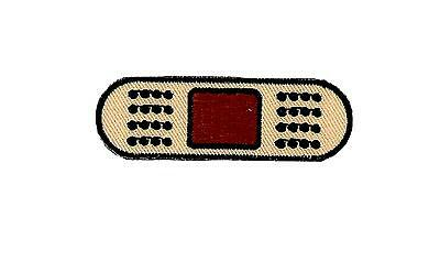 Patch embroidered iron on cloth badges kawaii biker band aid bandage applique