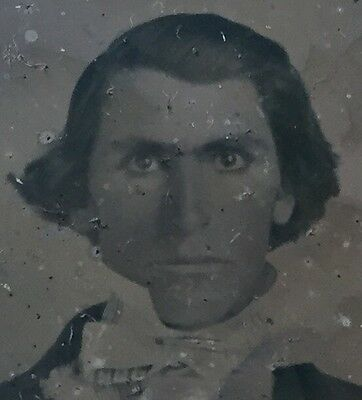 Unusual Ambrotype Intense Handsome Dude & Young Wife Look!