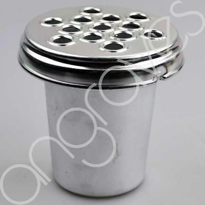 Silver Metal Grave Vase with Lid (5 Inch) For Fresh and Artifical Flowers Pot Ho