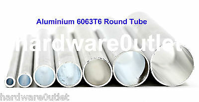 Round Aluminium TUBE Pipe BAR x 8 Diameters available & 3 Cut Lengths available