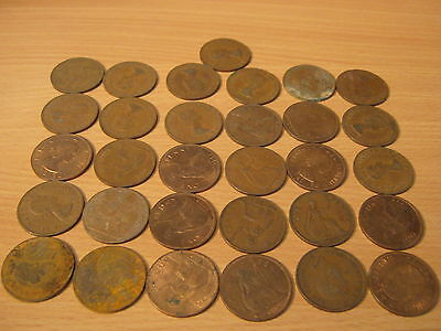 31 post 1940  old pennys,various years coins,fast free post,cheap